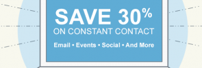 Constant Contact 30% off
